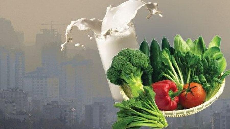 تغذیه - آلودگی هوا