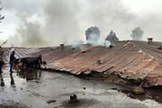 بیمارستان متروکه مشگینشهر در آتش سوخت