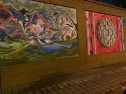دیوار سفارت ایتالیا بار دیگر نقاشی شد