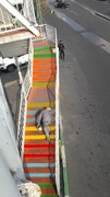 رنگ آمیزی پل های عابر پیاده منطقه۶