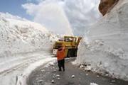 کدام گردنه ۷ ماه از سال ۵ متر برف دارد!