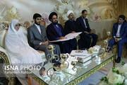 برگزاری مراسم عقد یک زوج یزدی با حضور معاون وزیر