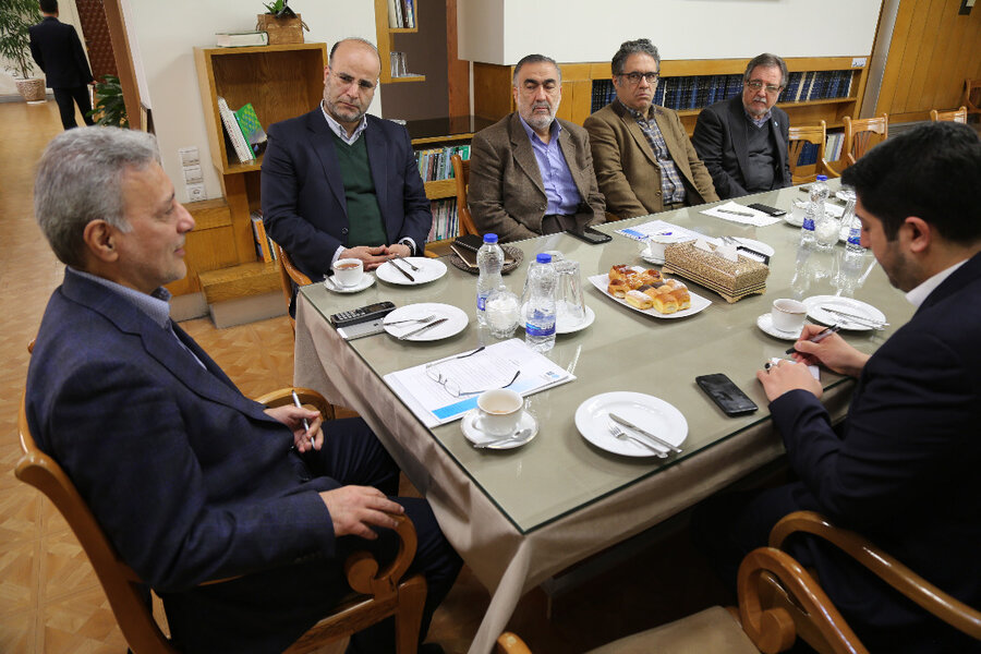 دیدار شهردار منطقه6 و رئیس دانشگاه تهران