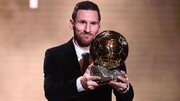 لیونل مسی ششمین توپ طلا را برد | توپ طلای زنان برای مگان راپینو