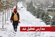 مدارس ماکو و بازرگان به دلیل بارش برف تعطیل شد