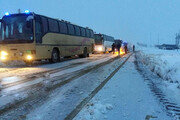 تصویر | جادههای برفی و لغزنده تکاب