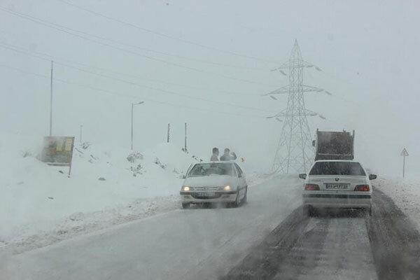 برف جاده همدان