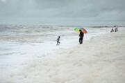 آلودگی سواحل هند با کفهای سفید سمی