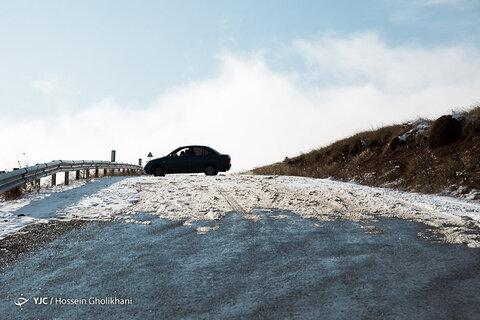 برف پاییزی در ارتفاعات قزوین
