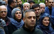 تصاویر | چهرههای مطرح در تشییع پیکر نصرتالله کریمی ؛ از بهمن فرمانآرا تا پوری بنایی