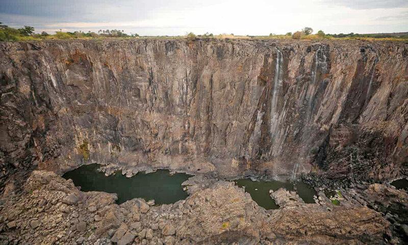 خشك شدن آبشار ويكتوريا