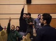 تصاویر دانشجویان خشمگین در مراسم روز دانشجو با حضور پروانه سلحشوری