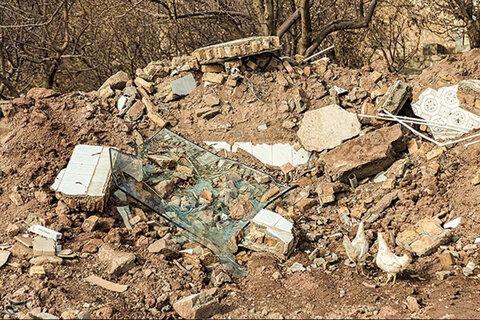 روستای ورنکش میانه یک ماه پس از زلزله