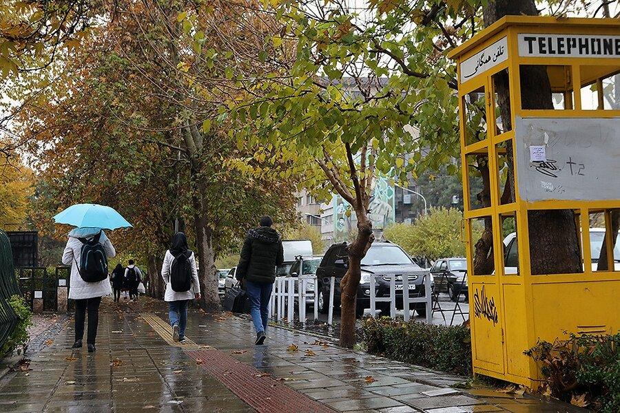 بارش باران پاییزی