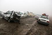 تصادف زنجیرهای در همدان یک کشته و ۱۳ مجروح برجای گذاشت