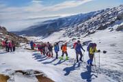 تصویر | صعود کوهنوردان کرمانشاهی به الوند