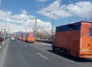 تصرف معابر دو محله با کامیون های باربری