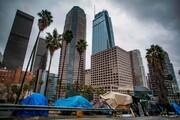 فیلم | تصاویری از بیخانمانها در خیابانهای لس آنجلس آمریکا