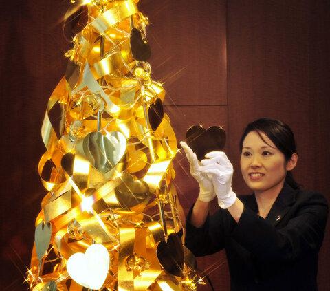 درخت کریسمس در ژاپن به ارزش 1.95 دلار