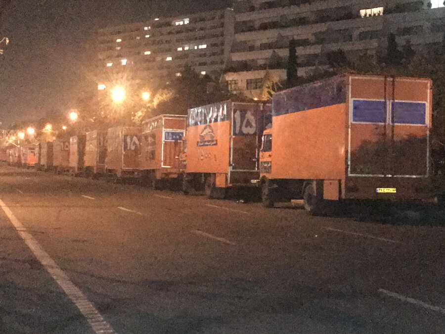 پارک کامیون ها در مجیدآباد
