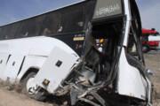 واژگونی یک دستگاه اتوبوس در زنجان