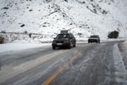برف و باران جادههای خراسان رضوی را فرا گرفت