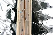 عکس روز: بزرگراهی روی رودخانه یخزده