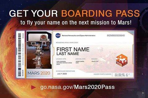پاسپورت برای مریخ | نام شما به فضا فرستاده میشود