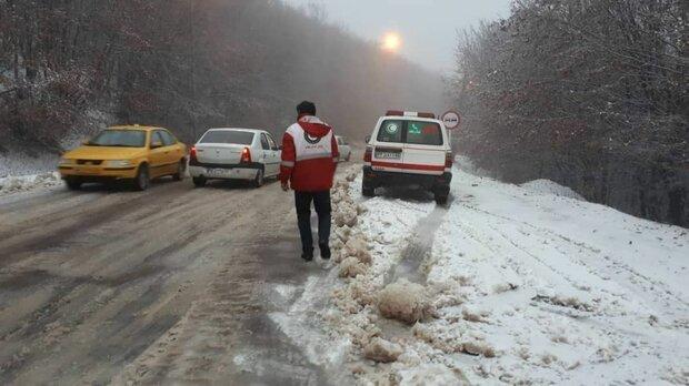 جاده برفی - امداد و نجات