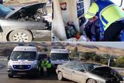 واژگونی خودرو در فیروزکوه؛ ۳ نفر مصدوم شدند