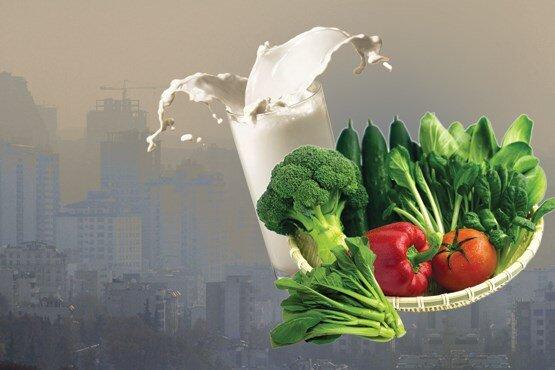 رژیم غذایی در روزهای آلوده