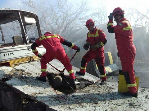 مانور زلزله گزارش تصويري