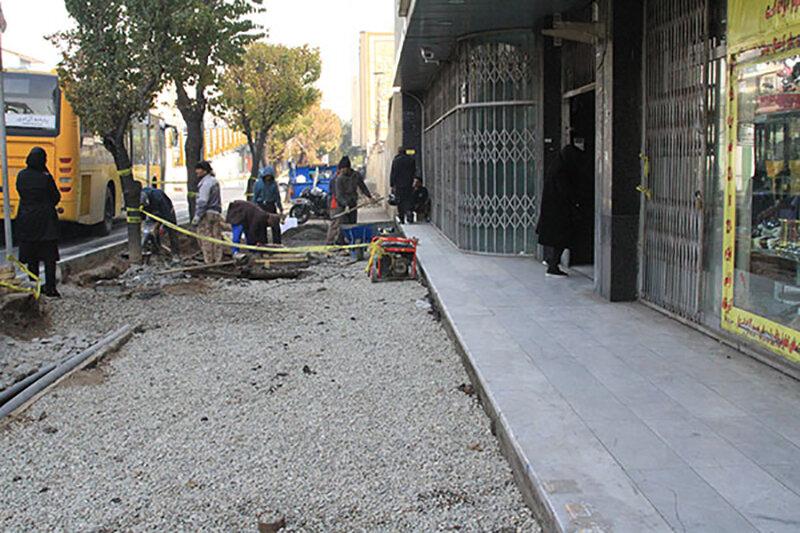 پیاده رو سازی خیابان کریم خان