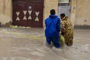 خسارت به تاسیسات زیرساختی و منازل مردم پس از بارندگی سیل آسا