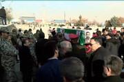 تشییع پیکر جانباز دفاع مقدس در تبریز