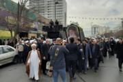 تشییع پیکر آیتالله موسوی خلخالی در مشهد مقدس