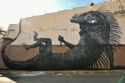 تصاویر حیوانات غول پیکر روی دیوار | گرافیتیهای متفاوت در چند قاره دنیا