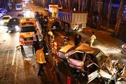تصادف زنجیرهای در محور تهران - شمال ۱۳ مصدوم داشت