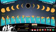 اینفوگرافی | حرکت خورشید گرفتگی در ۱۱ استان