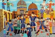 افتخارآفرینی کودکان اردبیلی در مسابقه نقاشی ازبکستان | کسب  ۹ دیپلم افتخار