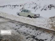 برف راه ۱۵ روستای کردستان را مسدود کرد