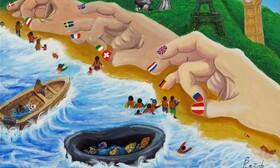 آرزوهای از دست رفته   نقاشیهای پناهجویان کمپ لسبوس یونان در راه حراج کریستی   ردپای ایرانیها در نقاشیها