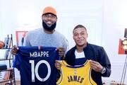 دیدار ستاره فوتبال فرانسه با پادشاه بسکتبال