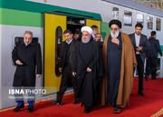 گزارش تصویری | روحانی در قطار برقی هشتگرد