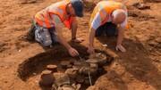 کشف مقبرههای رومی و آنگلوساکسون در بریتانیا