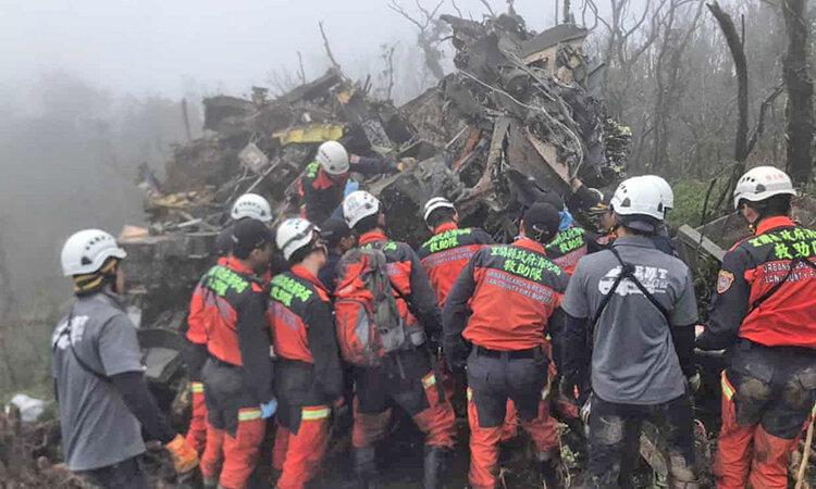 سقوط بالگرد ارتش تايوان