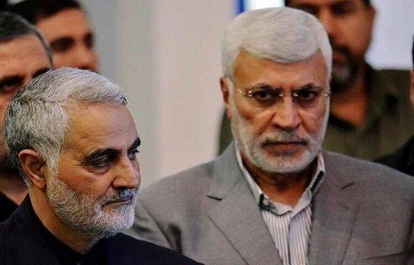 ابومهدی مهندس و سردار سلیمانی