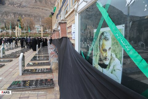 حالوهوای محل دفن شهید حاج قاسم سلیمانی