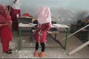 فیلم | ریزش قسمتی از سقف مدرسه شهید پورولی میناب بر سر دانشآموزان