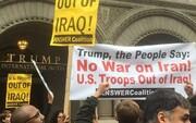 عکس | تظاهرات ضد جنگ علیه ایران مقابل برج ترامپ